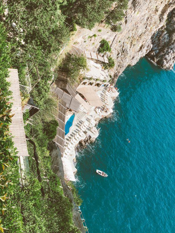 aerial view amalfi