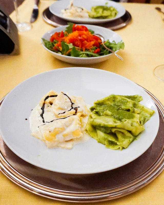 Rapallo Dinner Pesto Pasta