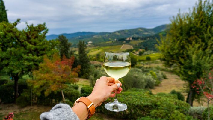 Tuscan view wine