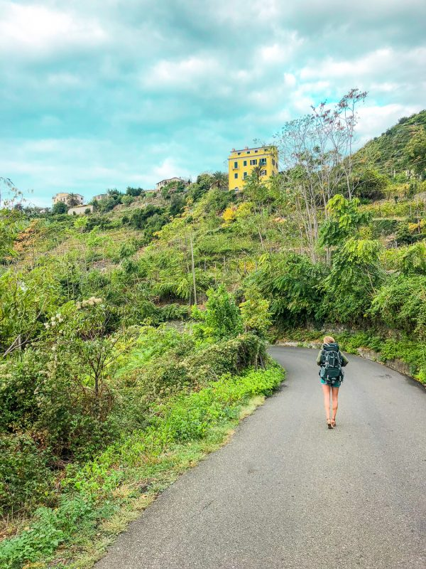 backpacking Cinque terre