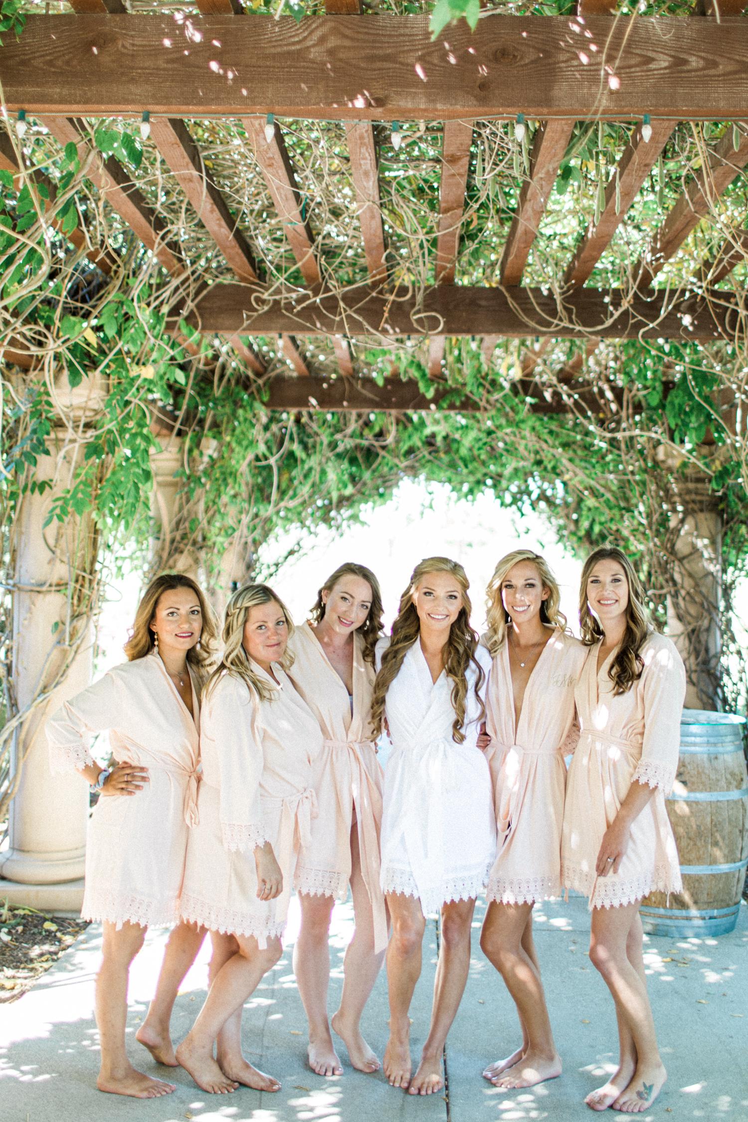 Bridesmaid robes lace