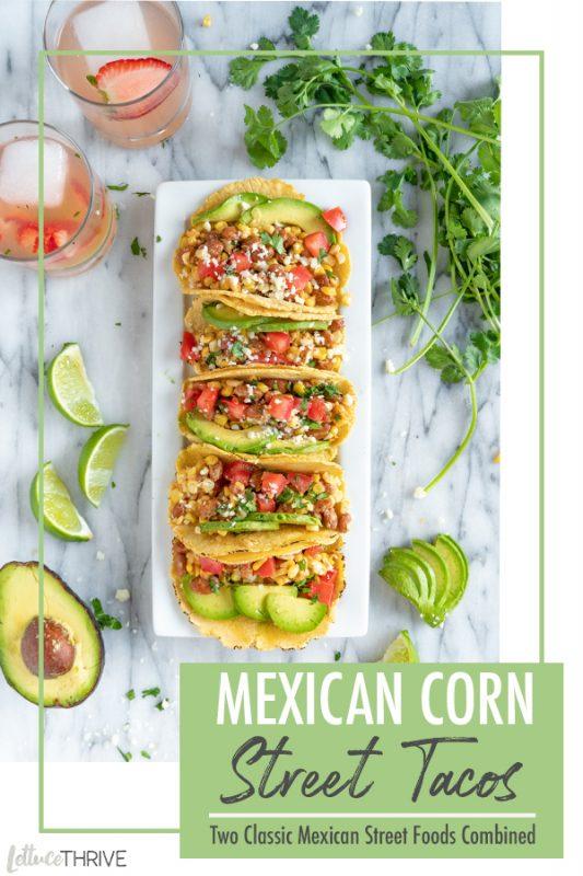 Mexican street Corn Tacos Pinterest