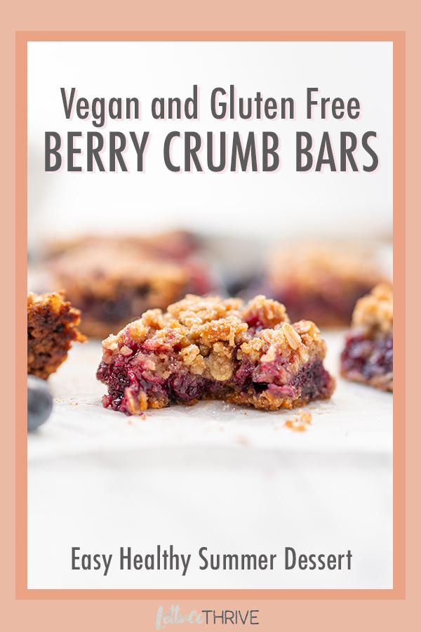 Vegan Gluten Free Berry Crumb Bars