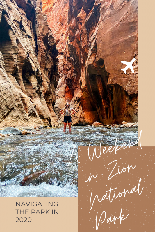 Zion National Park Weekend Itinerary Pin