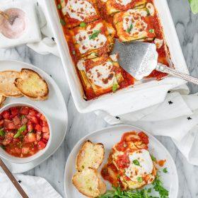 Vegan Zucchini Ravioli